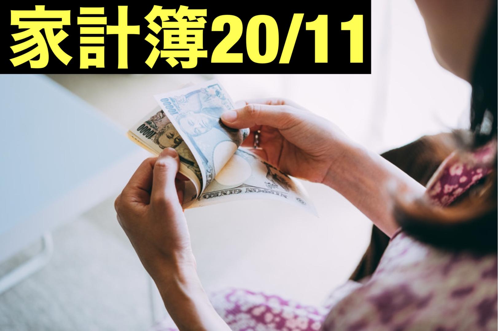 【30代】家計簿公開・20年11月【1人暮らし】